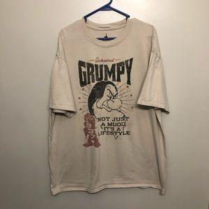 Disney Snow White grumpy dwarf t shirt tan 2XL